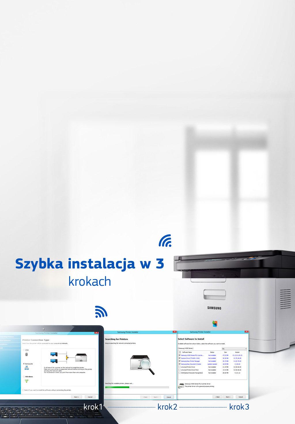 Łatwa instalacja drukarki