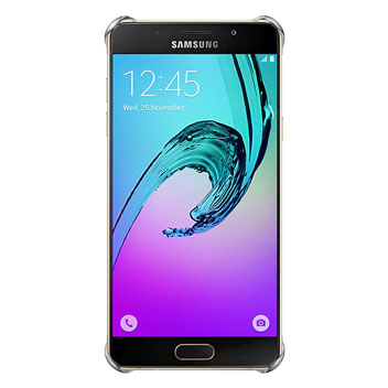 Official Samsung Galaxy A3 2016 Clear Cover Case - Blue / Black