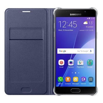 Official Samsung Galaxy A3 2016 Flip Wallet Cover - Sapphire