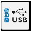 Wbudowane wejście USB zapewnia wygodne przeglądanie zdjęć, oglądanie filmów czy słuchanie muzyki. Po podłączeniu urządzenia pamięci masowej do telewizora pliki multimedialne są rozpoznawane i odtwarzane na ekranie za pomocą odpowiedniego programu.