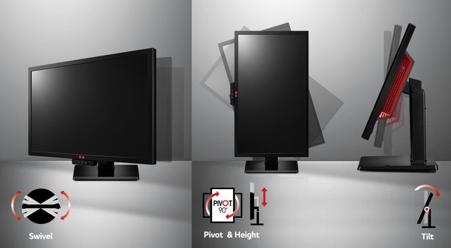 Regulowane położenie ekranu gwarantujące komfort podczas gier