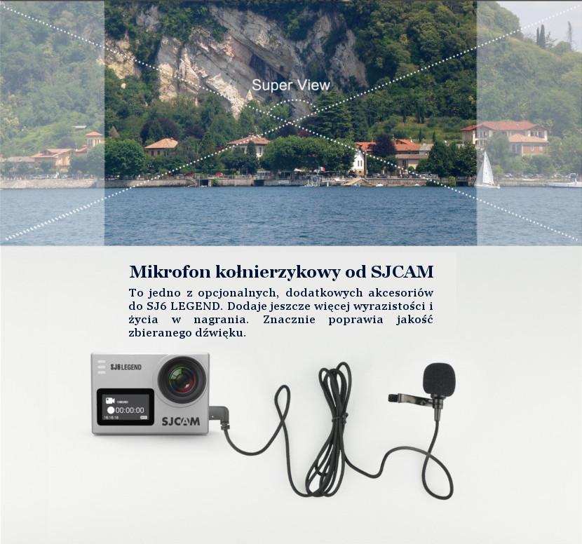 Mikrofon do kamery sportowej SJCAM SJ6 Legend