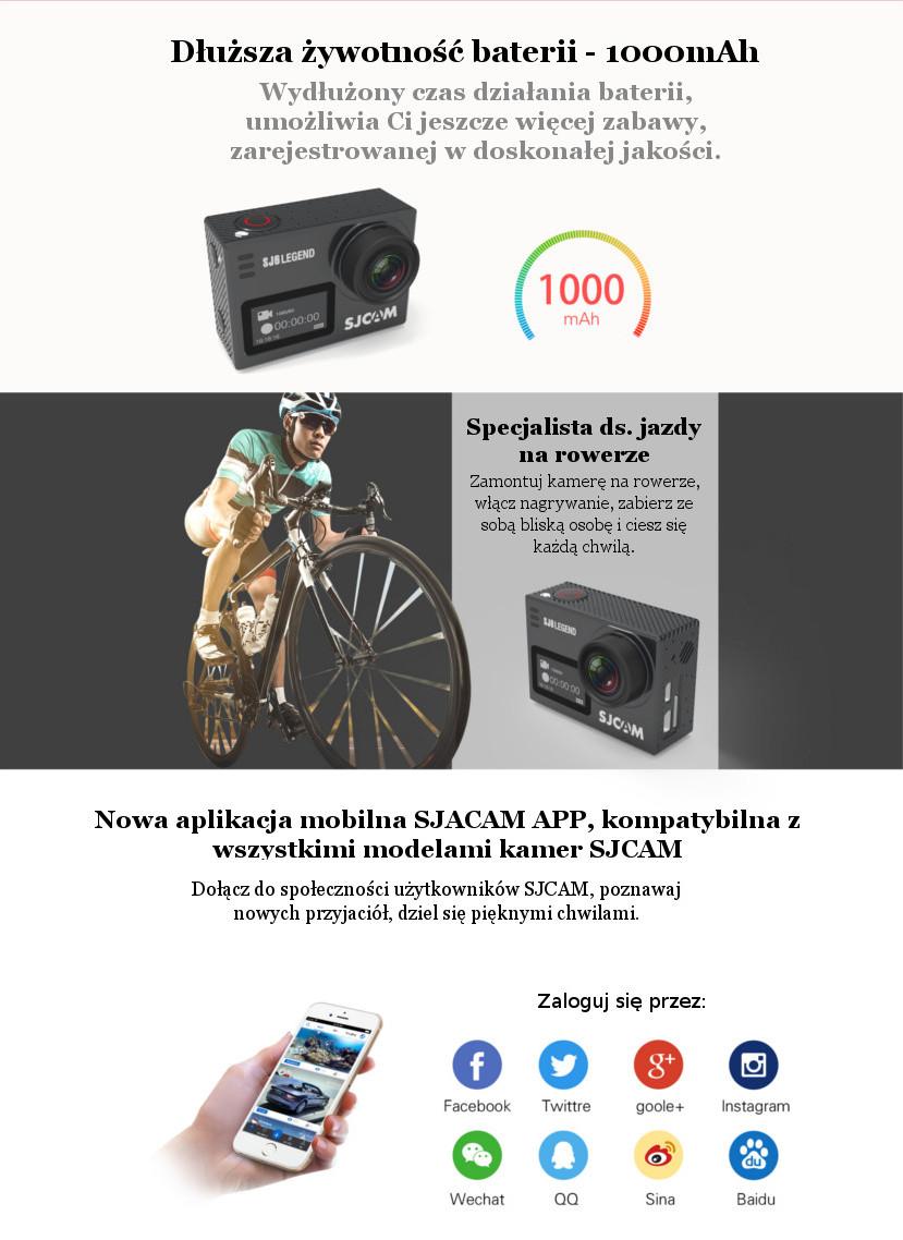 Kamera sportowa SJCAM SJ6 Legend - nowe możliwości