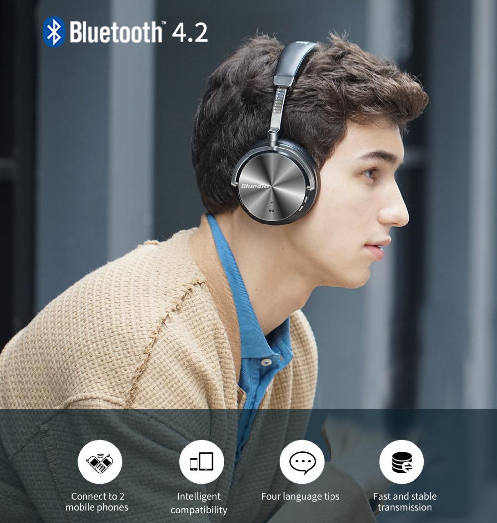 Bluedio T Monitor stylowe słuchawki Bluetooth w niskiej