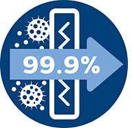 Filtr antyalergiczny wyłapuje ponad 99,9% drobnych cząsteczek kurzu