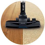 Nasadka TriActive umożliwia odkurzanie podłogi jednym ruchem na 3 różne sposoby