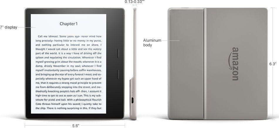 Amazon Kindle Oasis 2 (2017) 8GB - wymiary
