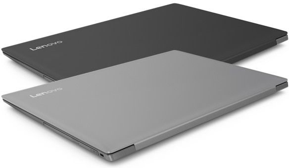 Lenovo Ideapad 330 (17), closed models in grey and black.
