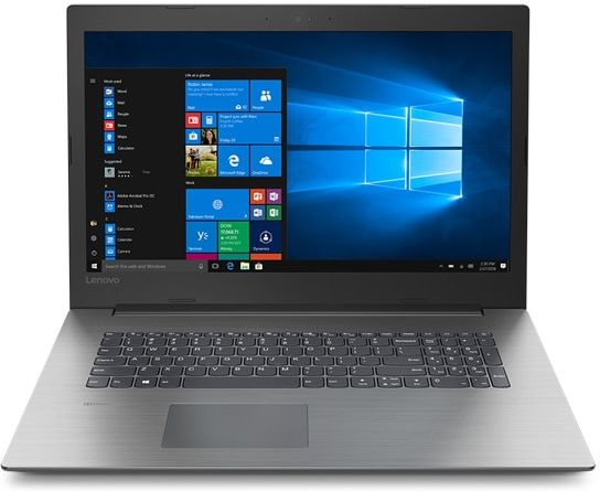 Lenovo Ideapad 330 (17), front view, open, showing display, keyboard, and touchpad.