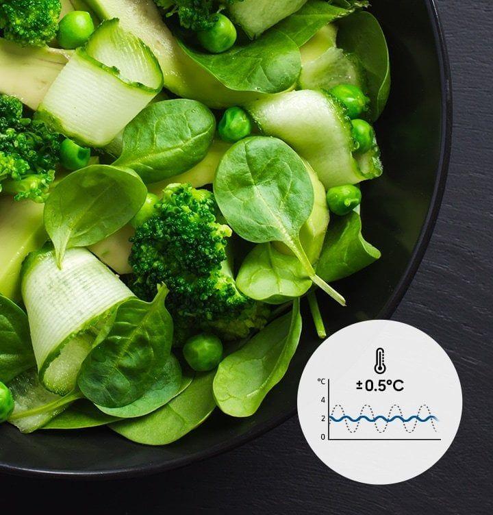 Technologia Precise Chef Cooling™ pozwala na zachowanie świeżości - Digital Inverter ogranicza wahania temperatury
