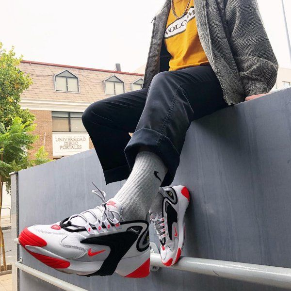 Nike Buty męskie Zoom 2K biało czerwone r. 46 (AO0269 105) w
