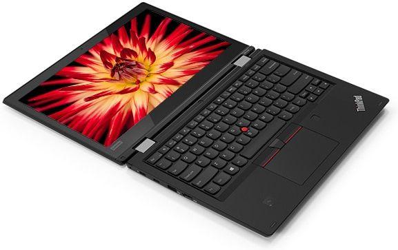 ThinkPad L380 Yoga enterprise 2-in-1, open 180 degrees