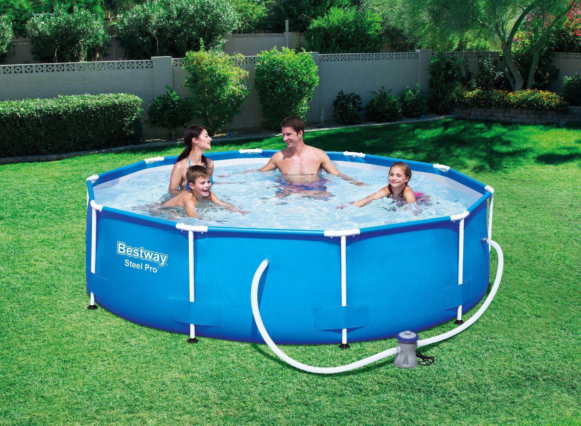 Bestway gartenpool frame pool steel pro 305x76 cm inkl for Gartenpool ebay