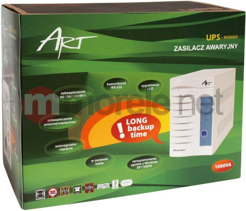 UPS ART  IN100011 LED IN Line 1000VA RJ11 RS232