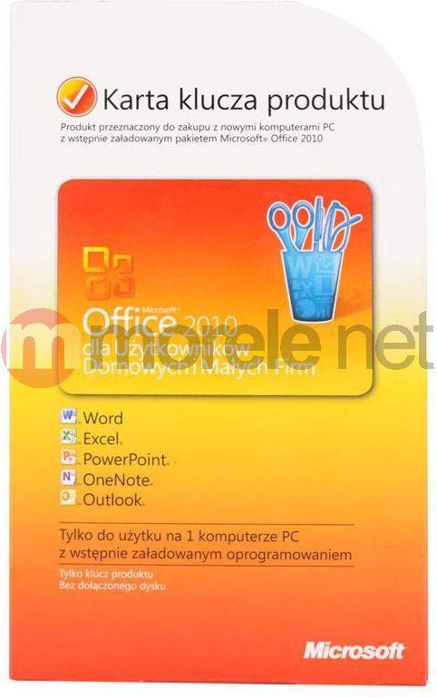 Program Microsoft Office 2010 dla Użytkowników Domowych i Małych Firm (PKC) (T5D-00311)