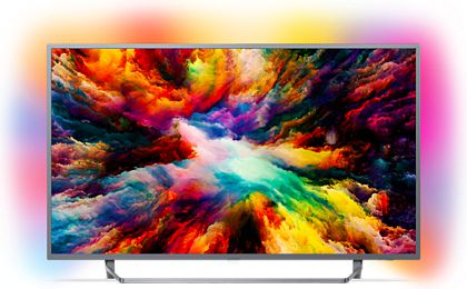 Telewizor Philips 65PUS7303/12 4K, HDR Plus, Android, AMBILIGHT 3, QWERTY