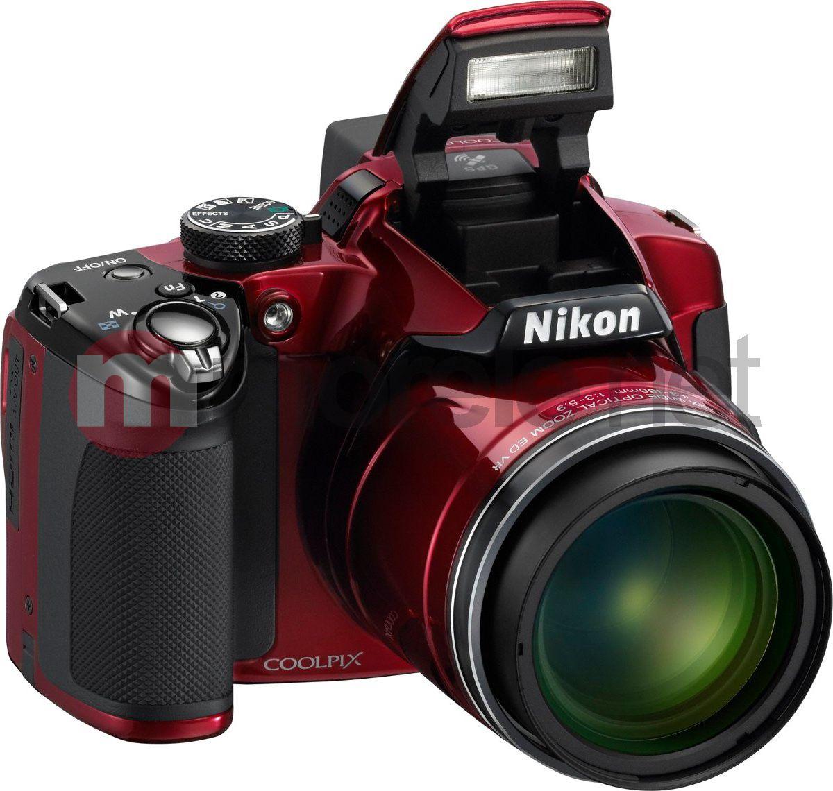 Aparat cyfrowy Nikon  CoolPix P 510 (VMA912E1) czerwony