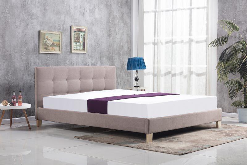 Beżowe łóżko Oxford Halmar