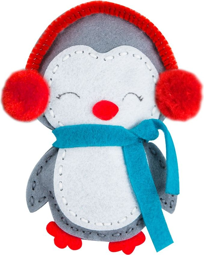 maskotka z filcu pingwinek