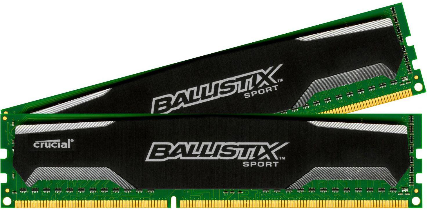 Pamięć Crucial Ballistix 8GB (2x4GB) DDR3 1600MHz CL9 Unbuffered NON-ECC 1.5V (BLS2CP4G3D1609DS1S00CEU)