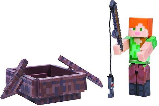 Minecraft figurka Alex z łodzią