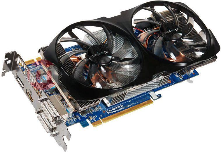 Karta graficzna Gigabyte  GeForce GTX 660 TI, 2GB DDR5 (192 Bit), HDMI, DVI, DP, BOX (GV-N66TOC-2GD)