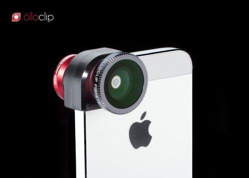 Olloclip zestaw obiektywów dla iPhone 5 w kolorze czerwonym
