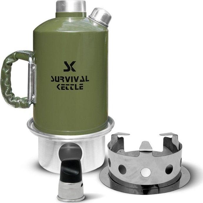Kuchenka czajnik turystyczny Survival Kettle zielona - zestaw uniwersalny