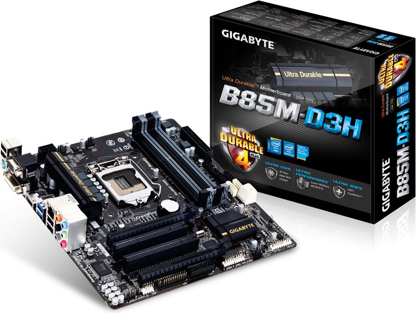 Płyta główna Gigabyte GA-B85M-D3H, B85, DualDDR3-1600, SATA3, HDMI, GBLAN, mATX (GA-B85M-D3H)