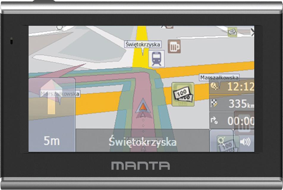 "Nawigacja GPS Manta Multimedia GPS570 5"" Easy Rider + mapa europy"