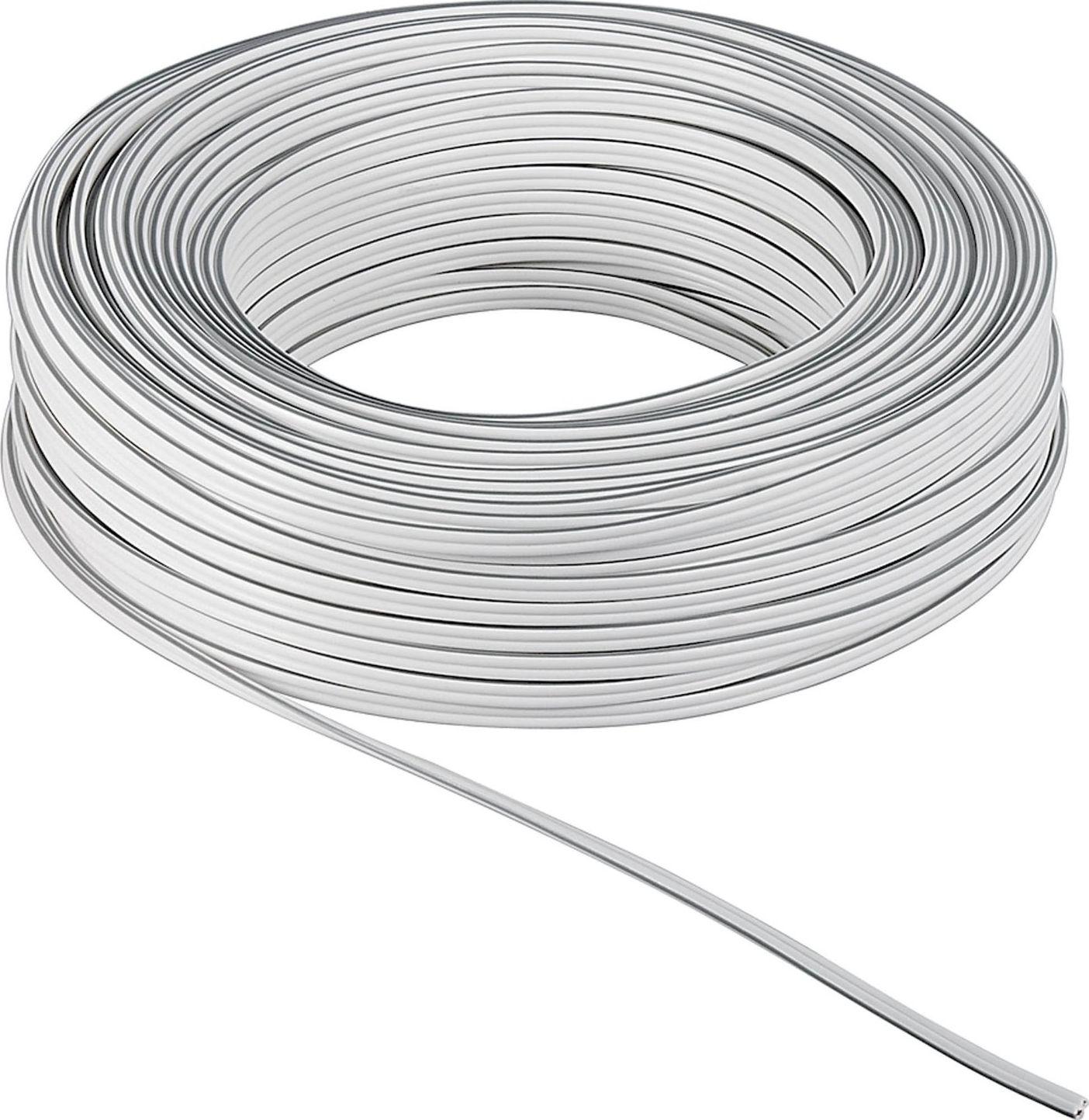 Przewód Goobay kabel do głośników, 10m,  2x 0.75 mm, biały  (15112) Darmowy odbiór w 19 miastach! - ŁowcyCen.pl