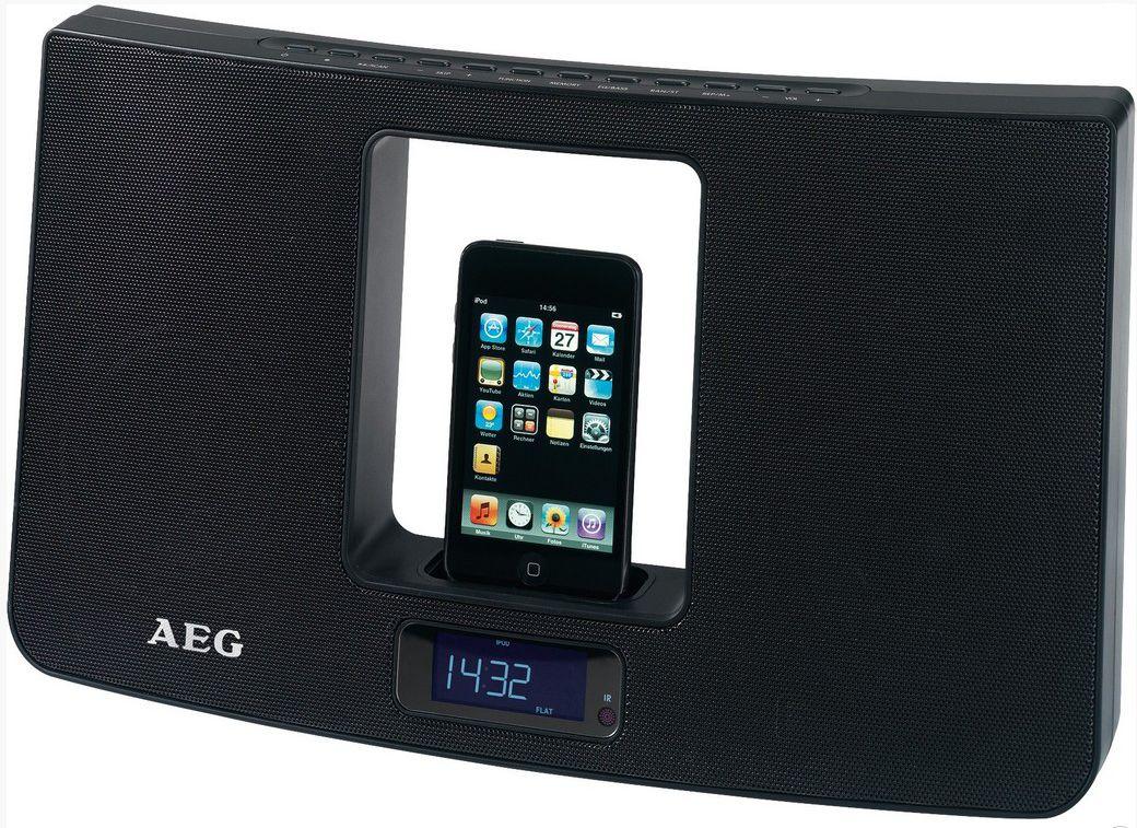 Głośnik AEG IMS 4439, czarny, dock iPhone/iPod Darmowy odbiór w 19 miastach! - ŁowcyCen.pl