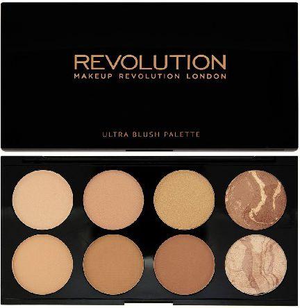 Makeup Revolution Blush Palette 8 Zestaw bronzerów i rozświetlaczy All About Bronze 13g