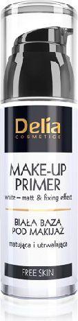 Delia Free Skin Baza pod makijaż biała matująca i utrwalająca