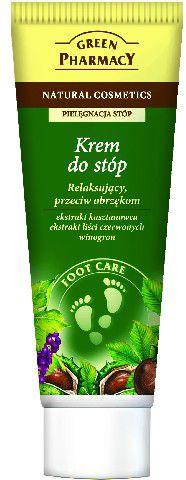 Green Pharmacy Krem do stóp relaksujący przeciw obrzękom Kasztanowiec, Liście czerwonych winogron 75ml