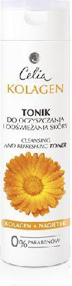 Celia Seria kolagenowa Tonik do oczyszczania i odświeżania skóry z nagietkiem