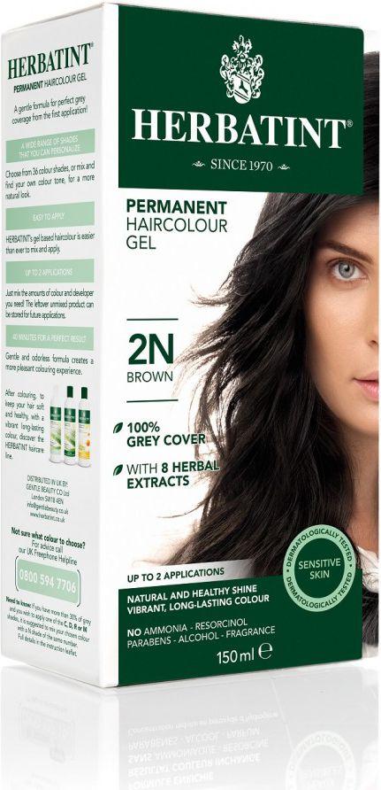 Herbatint NATURALNA trwała farba do włosów CIEMNY BRĄZ 2N