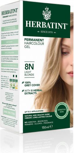 Herbatint NATURALNA trwała farba do włosów - JASNY BLOND 8N