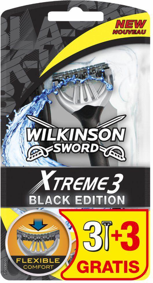 Wilkinson Xtreme 3 Black 3 + 3 GRATIS Maszynka do golenia