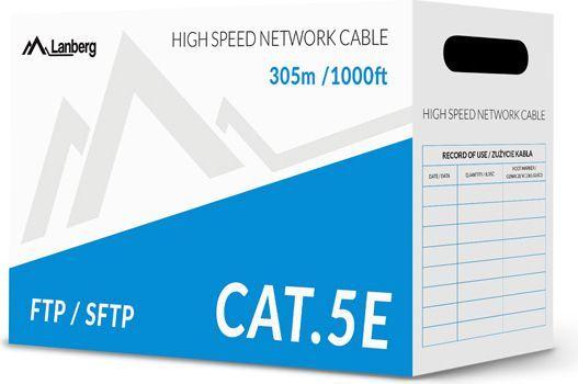 Lanberg przewód instalacyjny cat 5e, FTP, DRUT, 305m (LCF5-10CU-0305-S) 1