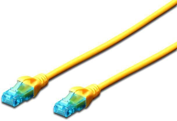 Digitus Kabel patch cord UTP, CAT.5E, żółty, 0.25m, 15 LGW (DK-1512-0025/Y) 1
