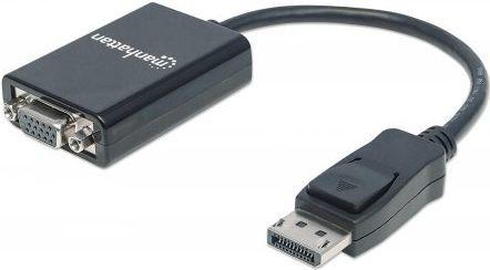 Adapter AV Manhattan DisplayPort - D-Sub (VGA) 0.15m czarny (151962) 1