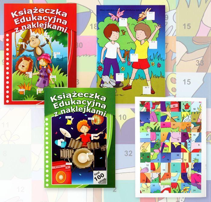 Książka edukacyjna z naklejkami 1