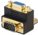 Adapter AV Lindy VGA, kątowy, czarny (70387) 1