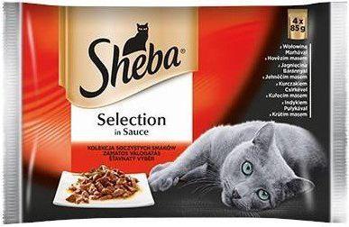 Sheba CUISINE MIĘSNE DANIA W SOSIE 4x85 1