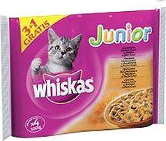 Whiskas Junior w sosie 4x100g 1