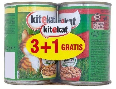 Kitekat Kurczak Wołowina 4x400g (3+1) 1