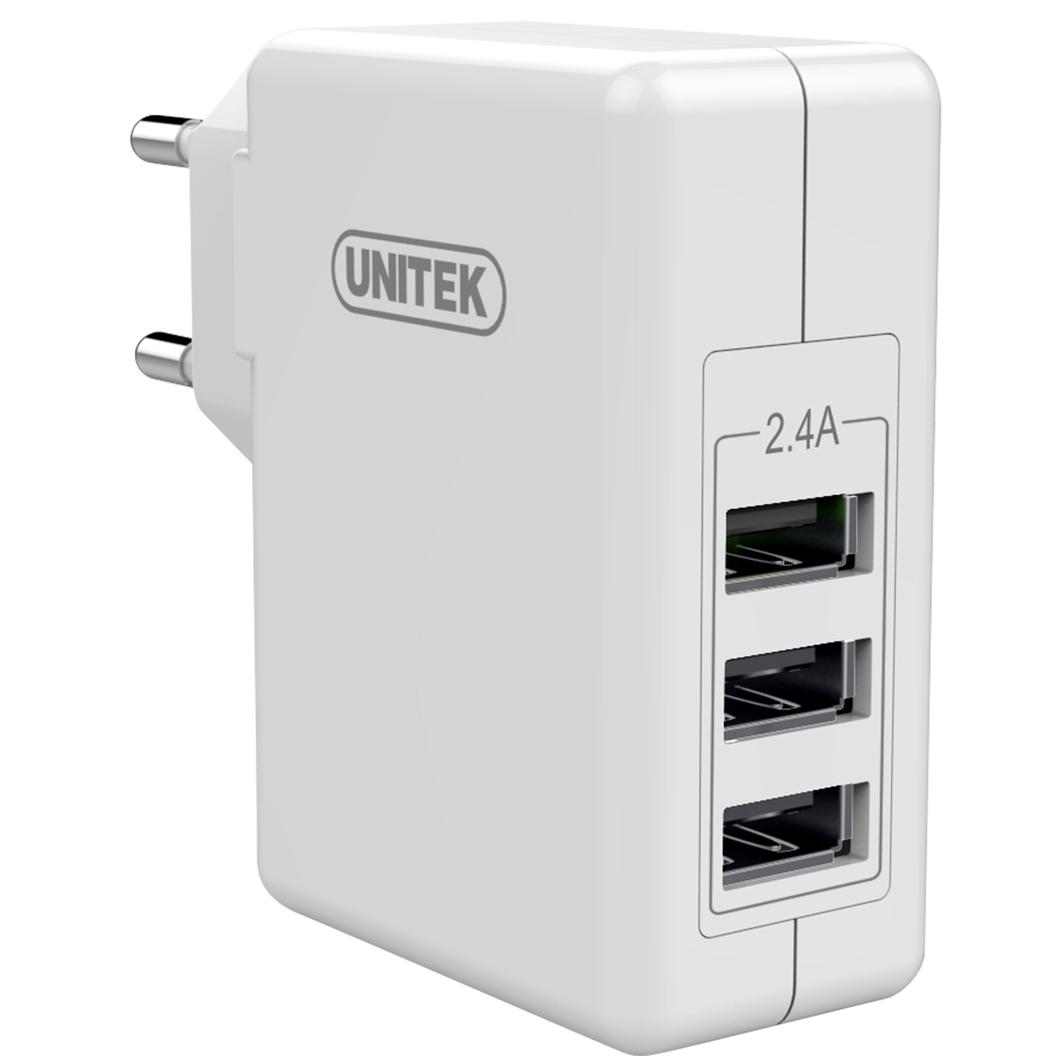 Ładowarka Unitek 3x USB 2.4A 24W (Y-P537B) 1