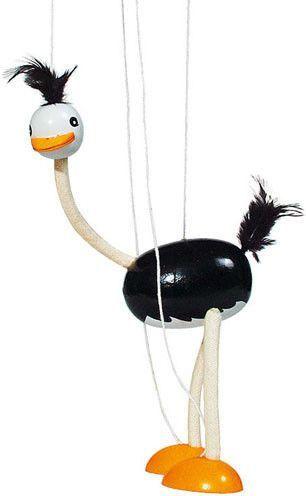 Goki Drewniana marionetka postać Struś (GOKI-SO 104) 1
