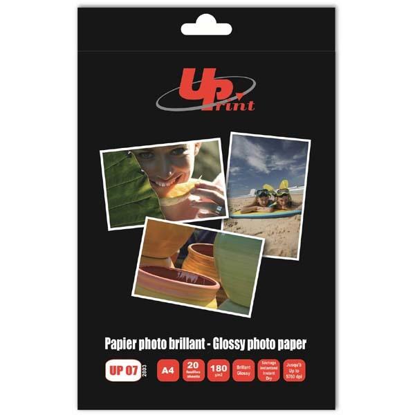 UPrint foto papier, połysk, biały, A4, 180 g/m2, 20 szt 1